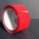 Bande Adhésive - Ruban Adhésif - Autocollant - Papier collant - couleur - 5-cm - 66-m - 226-e - rouge