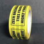 Bande Adhésive - Ruban Adhésif - Autocollant - Papier collant - pvc-tres-fragile - 5-cm - 66-m - 290-e - jaune